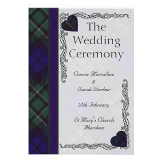 Programa escocés del boda del tartán - Maccallum Comunicados Personales