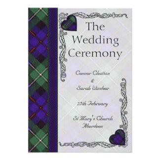 Programa escocés del boda del tartán - Mackenzie Invitación