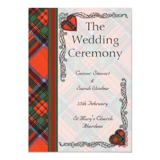 """Programa escocés del boda del tartán - Stewart Invitación 5"""" X 7"""""""