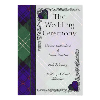 Programa escocés del boda del tartán - Sutherland Comunicados Personales