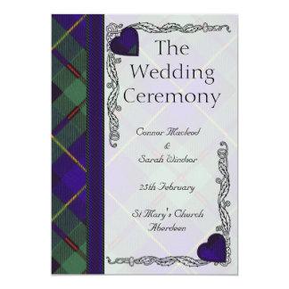 """Programa escocés Macleod del boda del tartán de Invitación 5"""" X 7"""""""