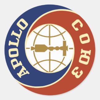 programa espacial de la NASA Apolo Pegatina Redonda
