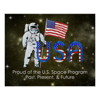 Programa espacial de los E.E.U.U. de la CAMISETA Posters