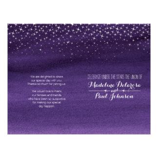 """Programa estrellado del boda del cielo nocturno folleto 8.5"""" x 11"""""""