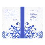 Programa floral abstracto azul y blanco del boda tarjetas informativas