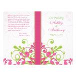 Programa floral abstracto blanco verde rosado del  tarjeta publicitaria