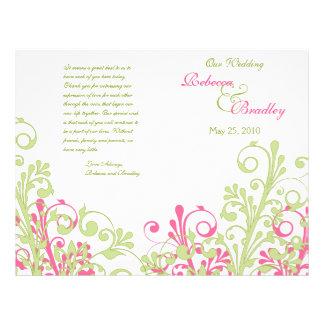 Programa floral abstracto del boda de las rosas fu flyer a todo color