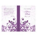 Programa floral abstracto púrpura y blanco del bod