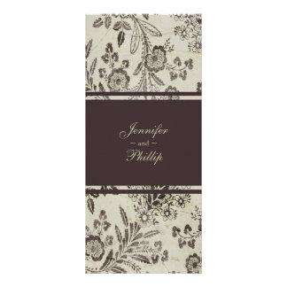 Programa floral del boda de Cambridge Brown del Tarjeta Publicitaria Personalizada