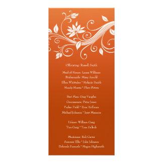 Programa floral del boda de la calabaza blanca plantillas de lonas