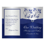 Programa floral del boda de la marina de guerra y  tarjetas publicitarias