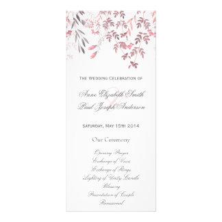 Programa floral del boda de la naturaleza lonas