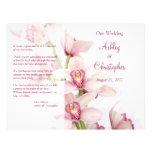 Programa floral del boda de la orquídea rosada del