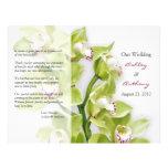 Programa floral del boda de la orquídea verde del