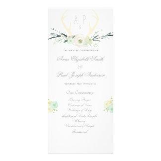 Programa floral del boda de las astas diseño de tarjeta publicitaria