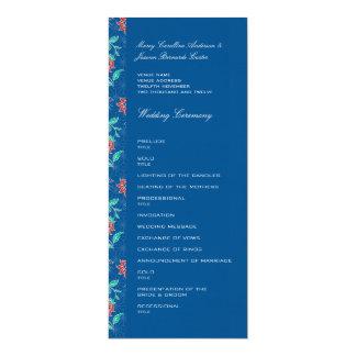 """Programa floral del boda del batik de Aiyana Invitación 4"""" X 9.25"""""""