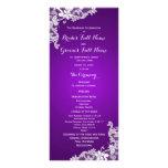Programa floral del boda del cordón de la púrpura  tarjetas publicitarias personalizadas