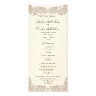 Programa floral del boda del cordón del Victorian Plantilla De Lona