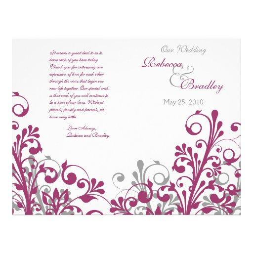 programa floral del boda del extracto del blanco g tarjetas informativas