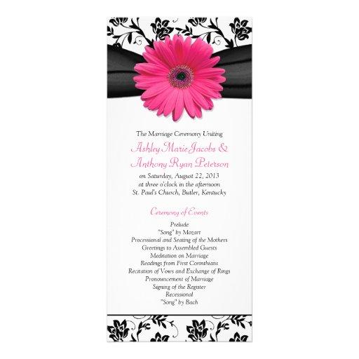 Programa floral del boda del Gerbera del negro ros Lonas