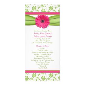 Programa floral del boda del Gerbera del verde ros Lonas Publicitarias