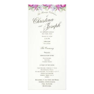 Programa floral del boda del ramo de la acuarela plantilla de lona