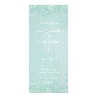 Programa floral del boda del remolino de la menta lona