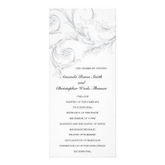 Programa floral elegante del boda tarjeta publicitaria