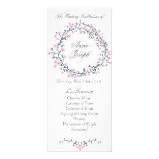 Programa floral ideal del boda tarjeta publicitaria personalizada