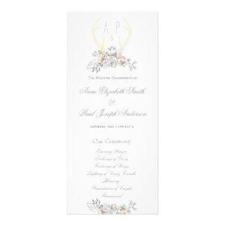 Programa floral II del boda de las astas Lonas Personalizadas