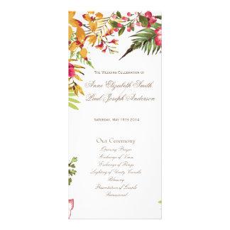 Programa floral II del boda del verano Lona Publicitaria