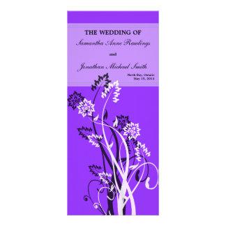 Programa floral púrpura del boda lonas publicitarias