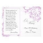 Programa floral púrpura elegante del boda tarjetas publicitarias