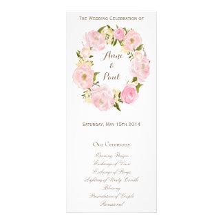 Programa floral romántico del monograma de la guir