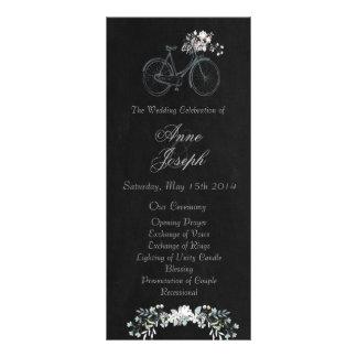 """Programa floral rústico del boda de la pizarra folleto publicitario 4"""" x 9"""""""