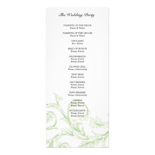 Programa floral sabio del boda lona