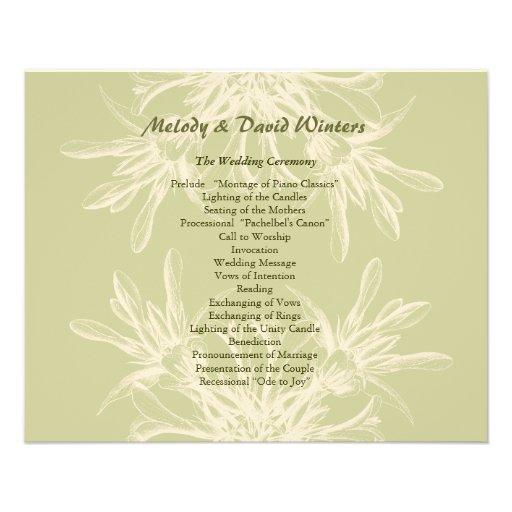 Programa floral verde oliva antiguo del boda tarjetas publicitarias