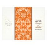 Programa formal anaranjado del boda de Fleur di Ly Tarjetas Informativas