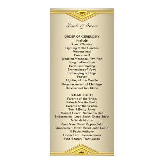 """Programa formal del boda de largo invitación 4"""" x 9.25"""""""
