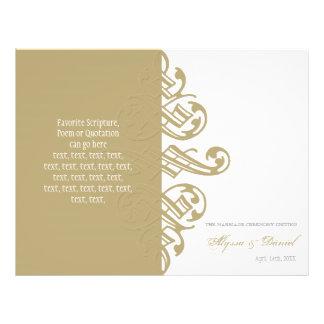 """Programa formal del boda del ornamento de las impr folleto 8.5"""" x 11"""""""