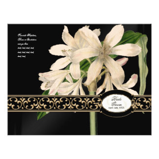 "Programa formal del boda del vintage del oro barro folleto 8.5"" x 11"""