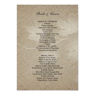 Programa formal del boda invitación 12,7 x 17,8 cm