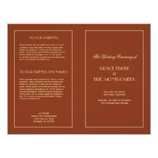 """Programa formal elegante elegante decadente del bo folleto 8.5"""" x 11"""""""