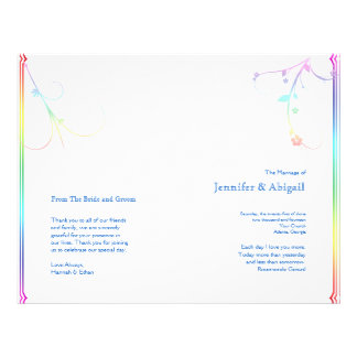 Programa gay floral del boda del arco iris elegant tarjetas publicitarias