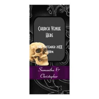Programa gótico negro del boda lona personalizada