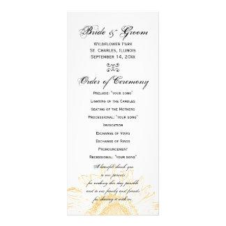 Programa gráfico del boda del girasol tarjetas publicitarias personalizadas
