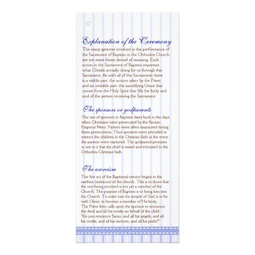 Programa griego del bautismo de la iglesia diseño de tarjeta publicitaria