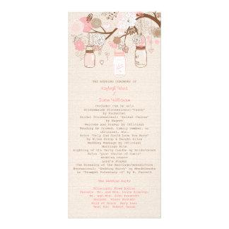 Programa ideal del boda del verano lona publicitaria