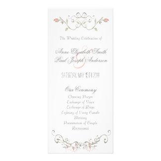 Programa III del boda del cuento de hadas Tarjeta Publicitaria