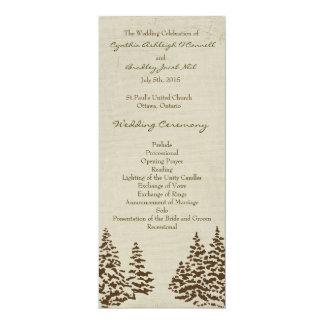 Programa imperecedero del boda del vintage invitación